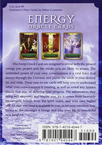 Energy Oracle Cards : A 53-Card Deck and Guidebook by Sandra Anne Taylor...