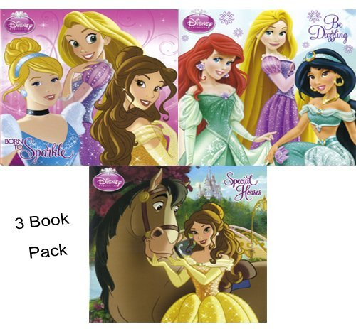 Disney Princess Be Dazzling Born to Sparkle and Special Horses Board Book Pack (Three Books) Model: - 1