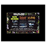 DOWNLOAD FESTIVAL - 2009 - Full Line Up Slipknot Def Leppard Matted Mini Poster - 21x13.5cm