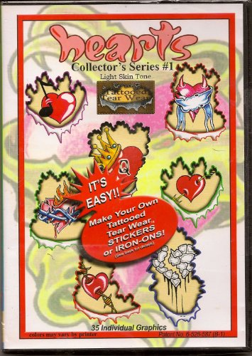 Tattooed Tearwear®! Hearts Collector'S Series #1. Skin Tone 1 back-654063