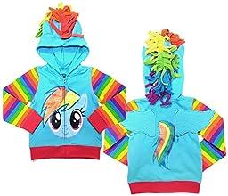 Little Girls: My Little Pony- Rainbow Zip Hoodie Size 6X