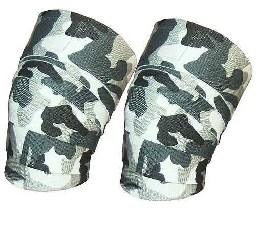 Weight Lifting Knee Wraps Power Lifter Wrap Gym Training Fist Straps Camouflage (Power Lifter Leg Wraps compare prices)