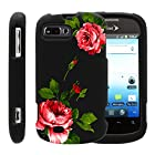 MINITURTLE, Slim Fit Graphic Design Image 2 Piece Snap On Protector Hard Phone Case Cover, Stylus Pen, and Clear Screen Protector Film for Prepaid Android Smartphone ZTE Fury N850, ZTE Director N850L, and ZTE Valet Z665C (Affectionate Flowers)