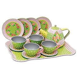 Childrens Tin Tea Set in a Case