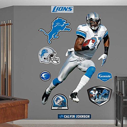 Fathead Detroit Lions Calvin Johnson Wall Decals front-480826