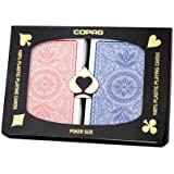Copag 4-Color Poker Size Jumbo Index Playing Cards - 4 Free Copag Cut Cards Included