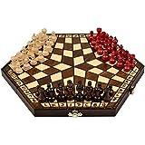 "Wooden Three Player Chess - 11"""