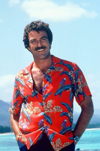 Magnum, P.i. Tom Selleck Hawaiian Shirt Poster magnum mg 504