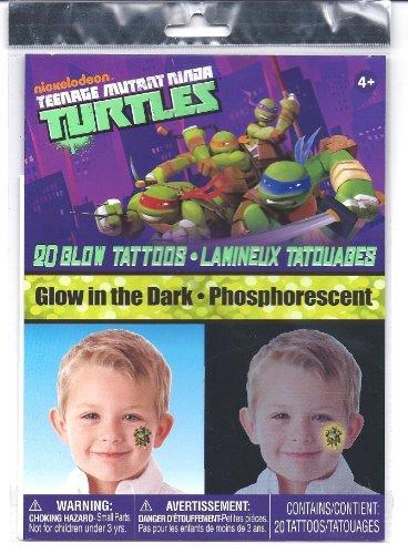 Teenage Mutant Ninja Turtles Glow in the Dark 20 Temporary Tattoos - 1