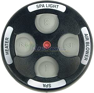 Jandy 4 Function Spa Side Remote 200' Black