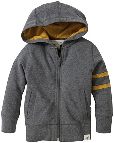 Burt'S Bees Baby Baby Boys' Zip Front Hoodie (Baby) - Charcoal Heather - 18 Months back-913208