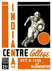 1935 Indiana Hoosiers vs Centre College Colonels 36x48 Canvas Historic Football... by Mounted Memories