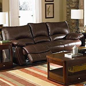Amazon.com - Clifford Collection Brown Leather 3PC Reclining