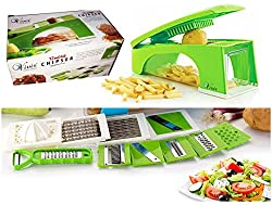 Vivir Jumbo High Quality 12 in 1 Fruits And Vegetable Cutter - Nicer Slicer Dicer, Chopper, Grater, Peeler - All In One (Green)