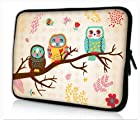 New Fashion design cute Owl 17 17.1 17.3 inch Neoprene Notebook Laptop soft Bag Sleeve Case cover pouch for Apple MacBook pro 17 /Dell Inspiron 17R Vostro XPS Alienware M17x /Acer/ lenovo / Samsung 700 Sony Vaio E 17 HP Pavilion DV7 ENVY 17/Asus Dell Inspiron 1721 Laptop netbook