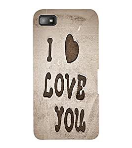 ColourCraft Love Quote Design Back Case Cover for BLACKBERRY Z10