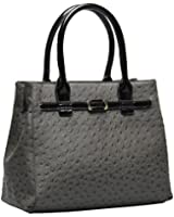 Hynes Eagle Ostrich Textures Ladies Top Handle Handbags