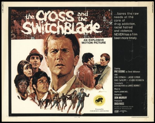 "The Cross And The Switchblade 1970 Original Movie Poster Biography Crime Drama - Dimensions: 22"" X 28"""