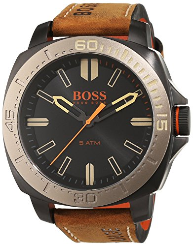 Boss Orange Men's Watch Sao Paulo Analog Quartz Leather 1513314