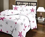 Snoopy Double Bed Pink Star Gazer Comforter, Quilt (250 GSM)