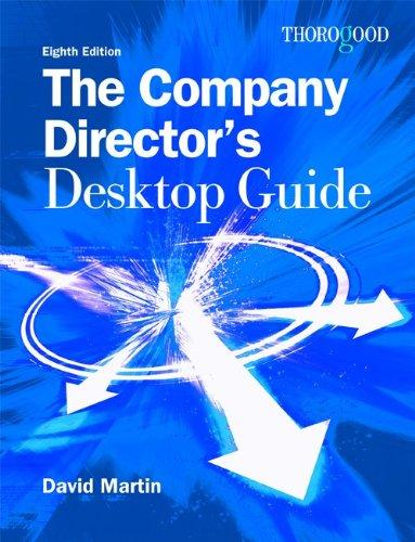 Company Directors Desktop Guide