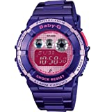 Casio BGD-121-6ER Ladies Watch Quartz Digital Pink Dial Purple Resin Strap