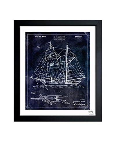 Oliver Gal Model Sailing Ship 1954 Framed Art