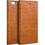 TUFFskinz iPhone 6 Leather Case : Premium [Genuine Leather] Handcrafted case - combination of Style and Quality (Apple iPhone 6(4.7), Tan Croc Print)