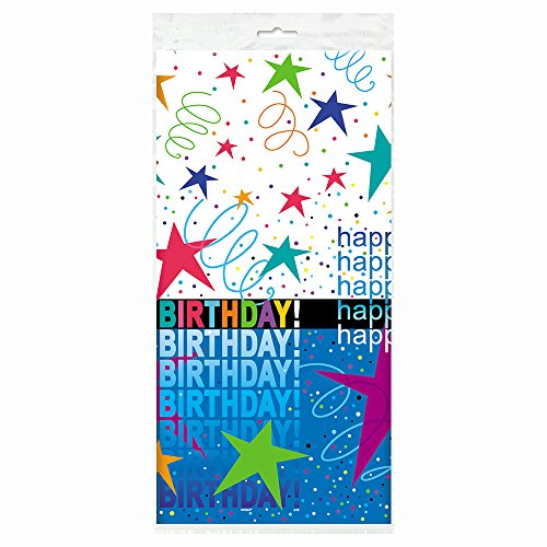 "Cosmic Birthday Plastic Tablecloth, 84"" x 54"""