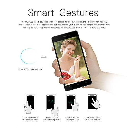 DOOGEE-Nova-Y100X-5-HD-OGS-3G-Smartphone-Android-Tlphone-Portable-50-MTK6582-Quad-Core-CPU-13GHz-1Go-8Go-Verre-Gorilla-25D-Double-Veille-Dual-SIM-64G-Wifi-Bluetooth-40