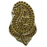 Paisley Design Brass Carved Wooden Textile Stamp Metal Engraved Stamp Block
