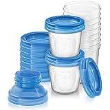 Philips AVENT Système de conservation du lait maternel (10 pots 180 ml, 10 couvercles et 2 adaptateurs)