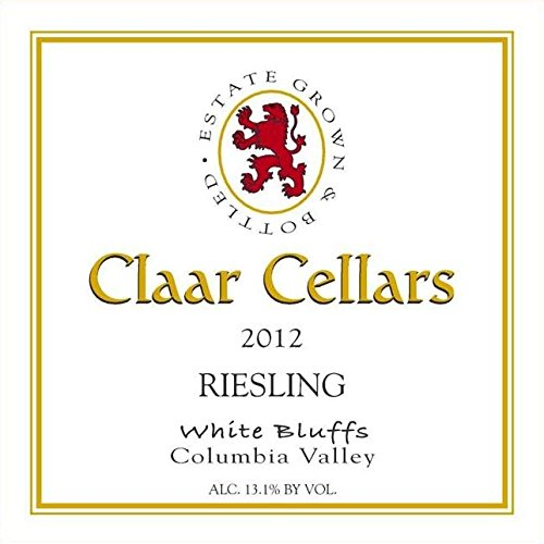 2012 Claar Cellars Estate White Bluffs Vineyard Riesling 750 Ml
