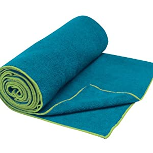 Gaiam Thirsty Yoga Mat Towel (Blue Teal)