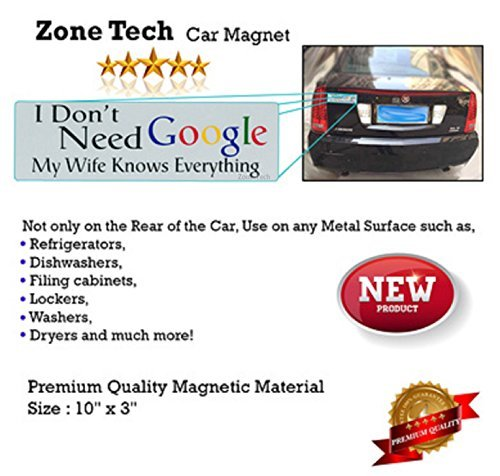 Zone tech funny vehicle bumper decal i don 39 t need google for I need a motor for my car
