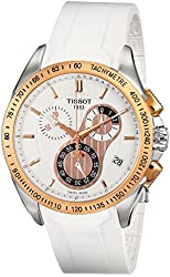Tissot Men's T0244172701100 T-Sport Racing Chronograph White Dial Watch