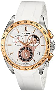 Tissot Men's T0244172701100 T-Sport Racing Chronograph White Dial Watch