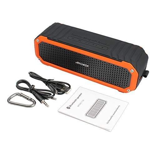Archeer-Wireless-Bluetooth-40-Waterproof-Shockproof-Outdoor-Speaker-Up-to-12-Hour-Playtime-Double-5W-Speaker-Built-in-Mic-Flashlight-Hands-Free-Speakerphone-Work-for-Ipad-Iphone-Samsang-Android-Smartp