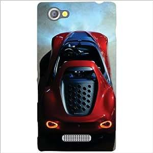 Sony Xperia M Back Cover - Vintage Car Designer Cases