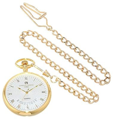Charles-Hubert Pocket Watch 3671 Gold Plated Open Face