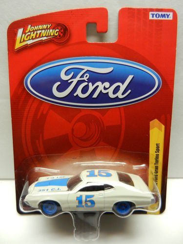1972 Ford Gran Torino Sport White & Blue Diecast 1:64 Scale Car - 1