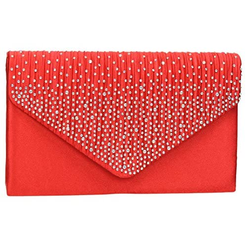 Abby Diamante Envelope style Clutch Bag -- SwankySwans