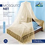 MOSQUITO NET by Just Relax, Elegant Bed Canopy Set Including Full Hanging Kit, Ideal For Indoors or Outdoors, Intended For a Perfect Fit for Covering Beds, Cribs, Hammocks (Beige, Twin/Full)