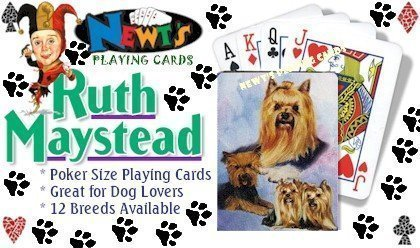 Best Friends Playing Cards, by Ruth Maystead - Yorkshire Terriers - 1