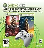 echange, troc Manette Xbox 360 sans fil + Fable 2 et Halo 3