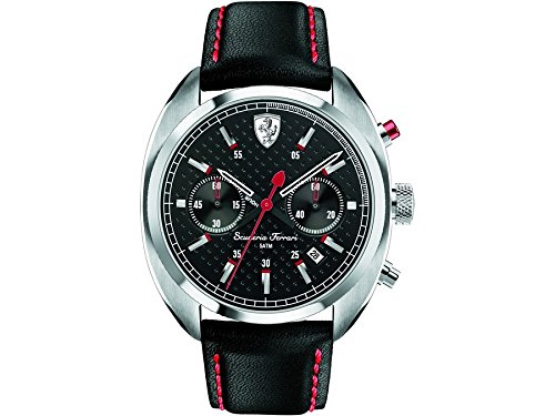 Ferrari de Hombre Reloj de pulsera hformular Sportiva Chrono analógico de cuarzo piel 0830239