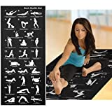 eMarkooz(TM) BACK HEALTH EXERCISE YOGA FITNESS FOAM MAT WATERPROOF 28 POSITION DISPLAY NEW