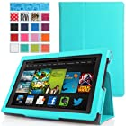 MoKo Amazon All-New Kindle Fire HD 7 Case - Slim Folding Case for All-New Fire HD 7.0 Inch 2013 Gen Tablet, Light BLUE (With Smart Cover Auto Wake / Sleep)