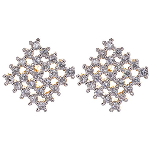 Aditri Aditri White Colour American Diamond Fashion Earrings For Women (Multicolor)