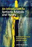 img - for An Introduction to Syntactic Analysis and Theory by Dominique Sportiche (2013-12-04) book / textbook / text book